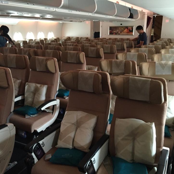etihad a380 economy cabin
