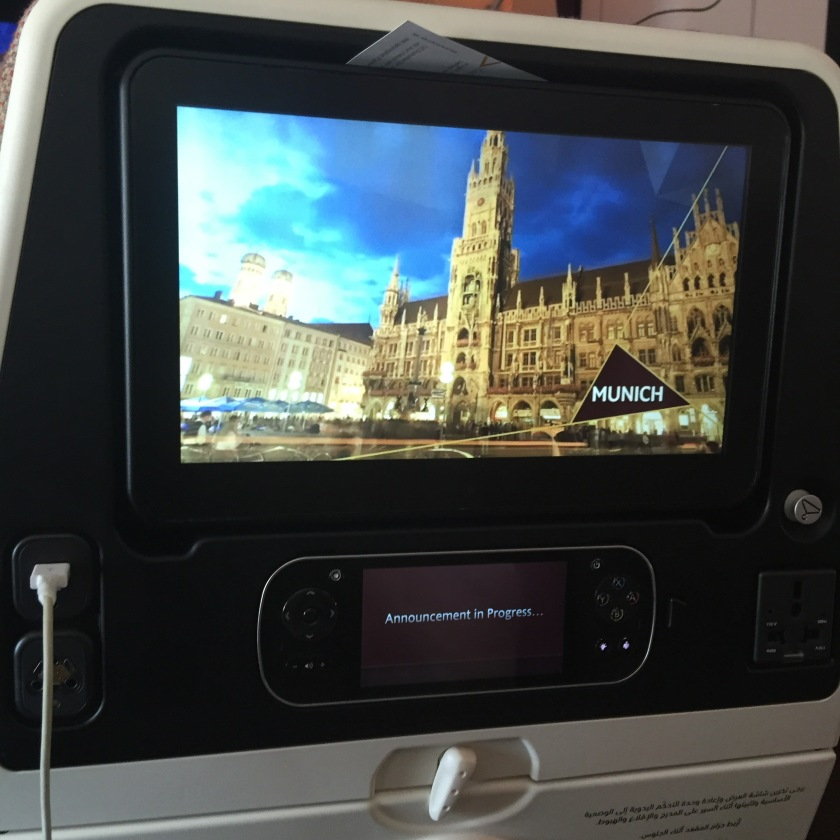 inflight tv screen