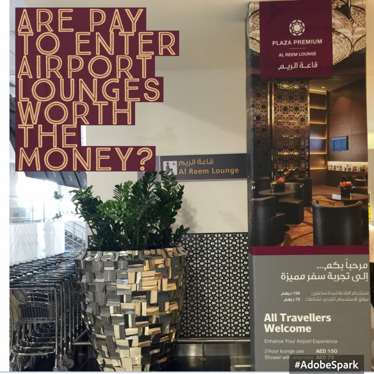 Are pay to enter airport lounges, worth the money ?…..