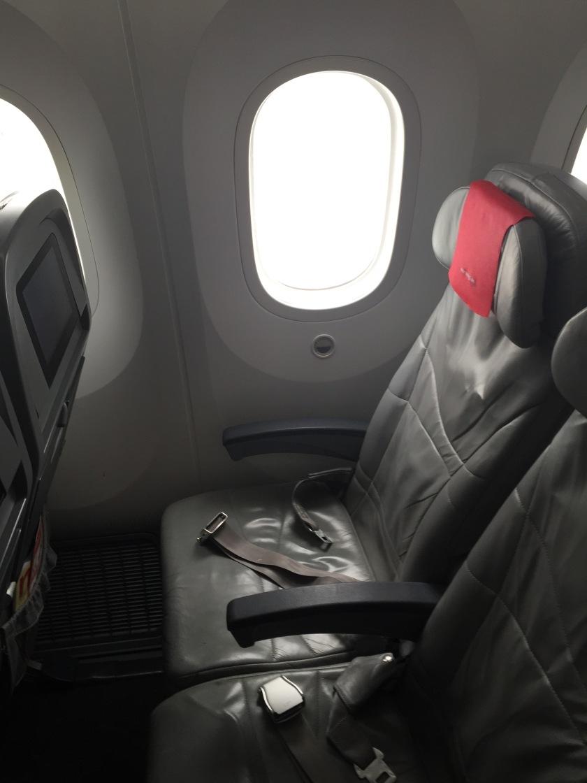 Norwegian airways economy seat