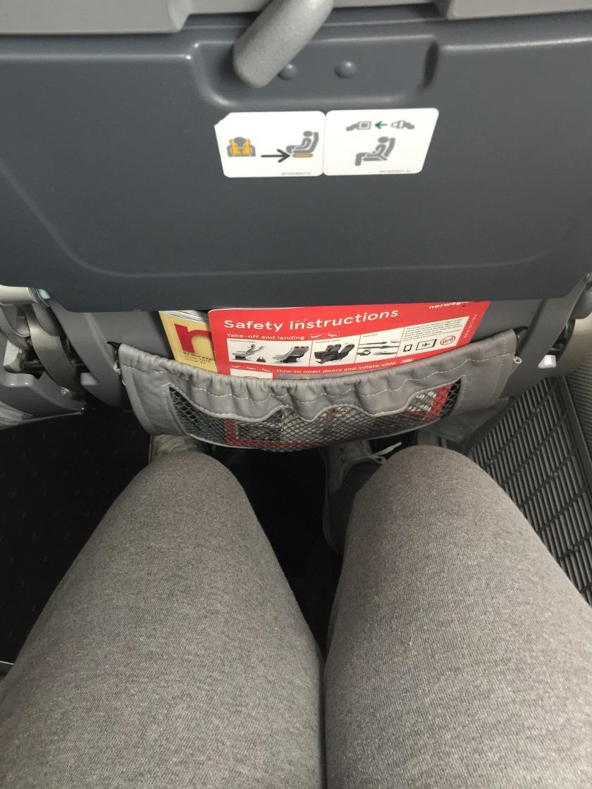 Norwegian airways economy seat legroom