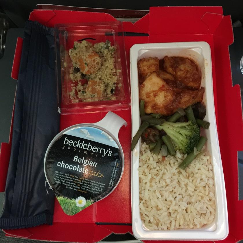 Norwegian airways inflight meal