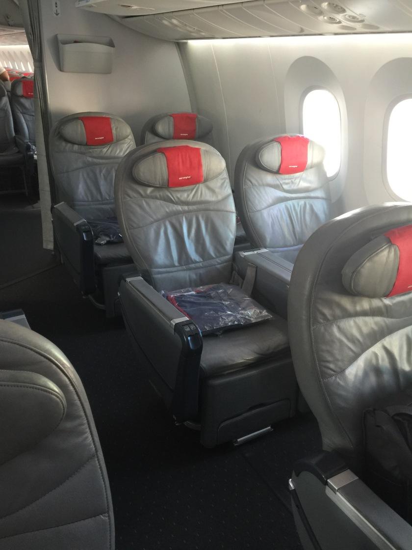 Norwegian airways premium seat