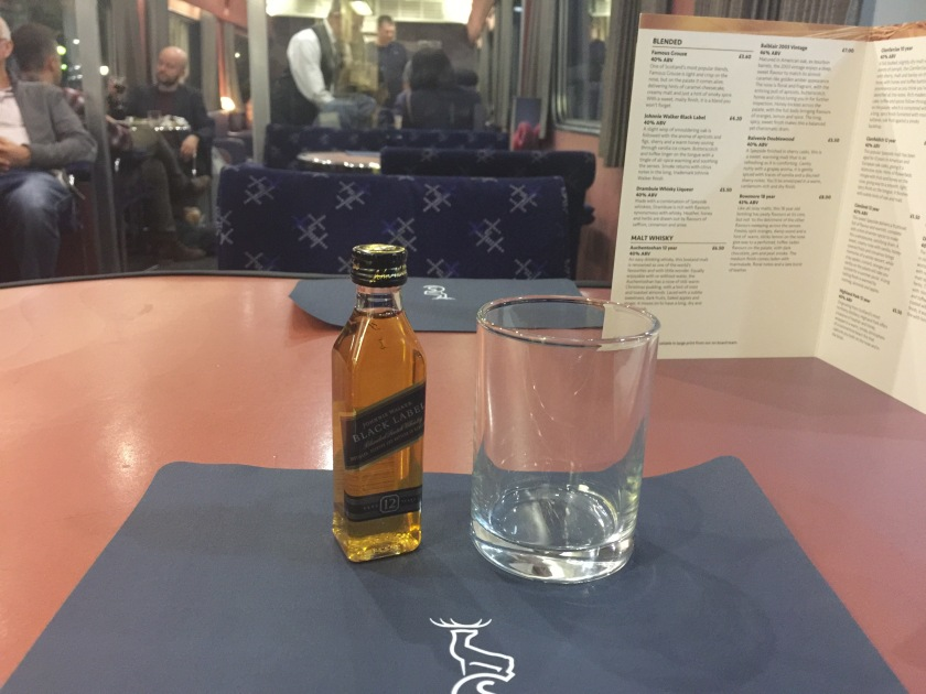 Night cap on the Caledonian Sleeper