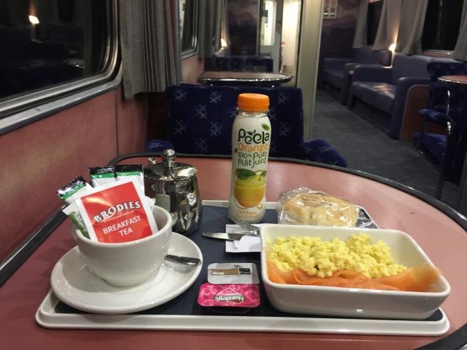 Breakfast on the Caledonian Sleeper