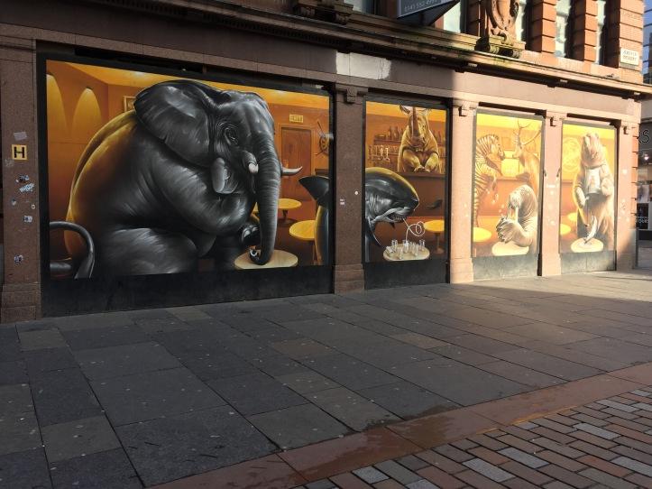 smug argyle street cafe street art