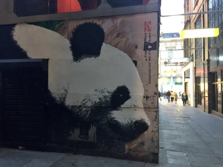 Klingaton glasgow panda street art