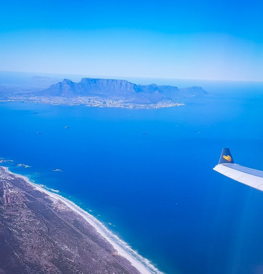 View of Table mountain from the plane