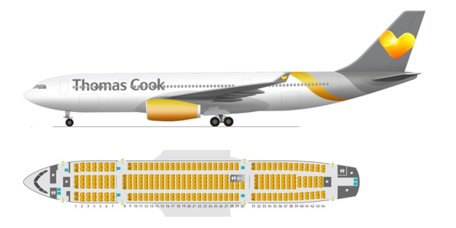 A330 thomas cook seat map