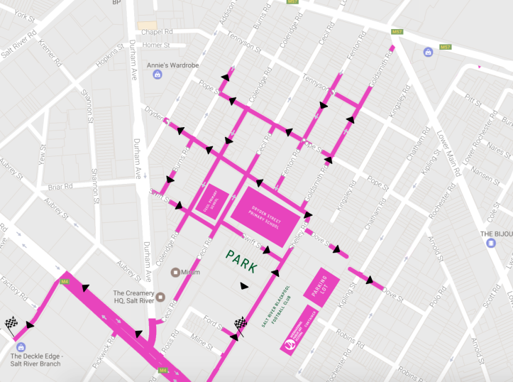 IPAF Street Art Route Map