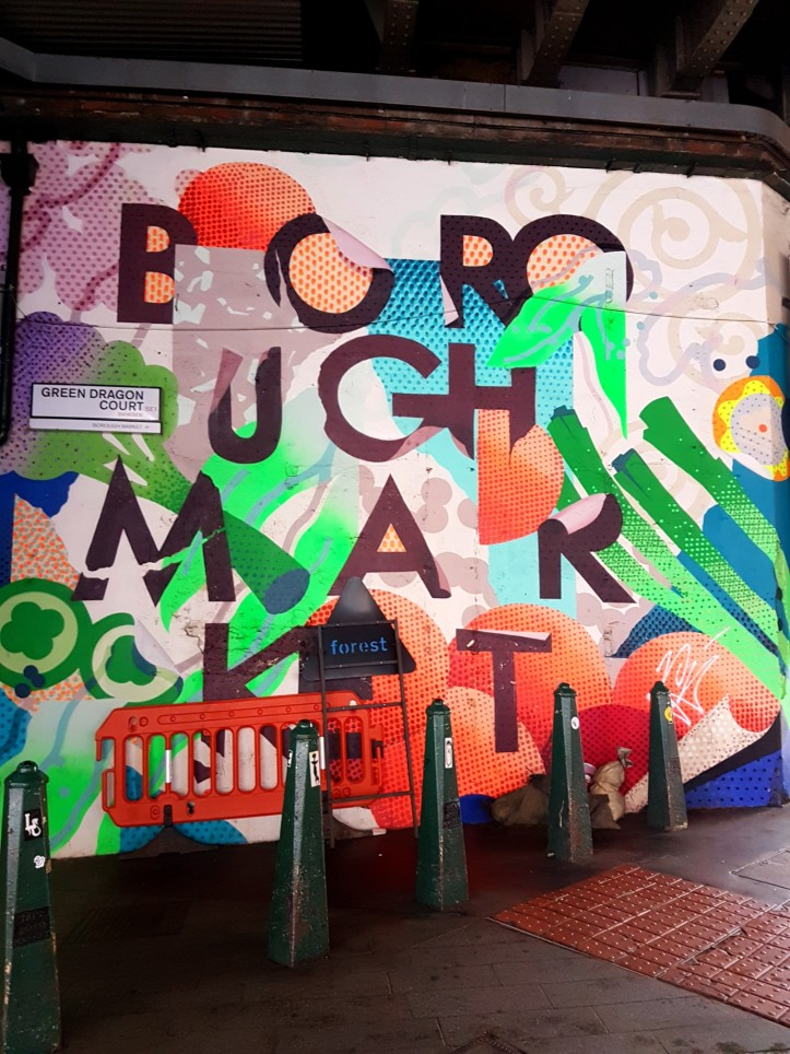 Borough Market street art  sign