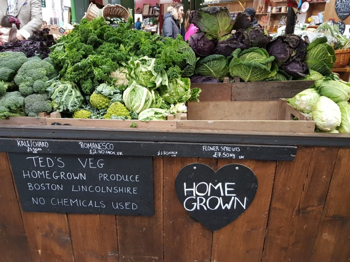 Home grown Veg at Borough Market