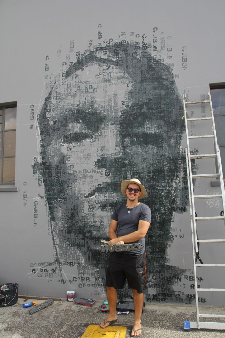 CARBON' street art  from Claude Chandler