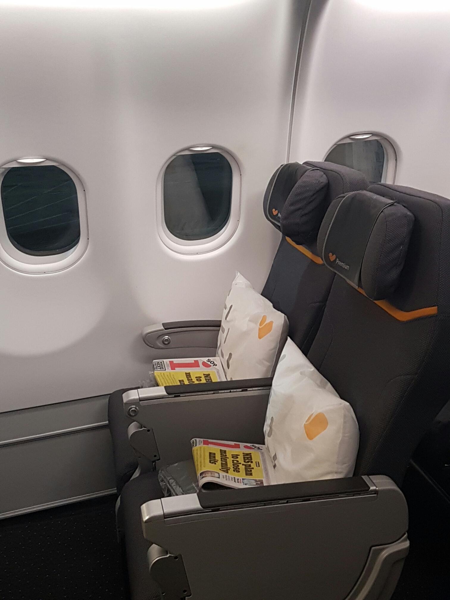 Premium cabin Thomas cook A330