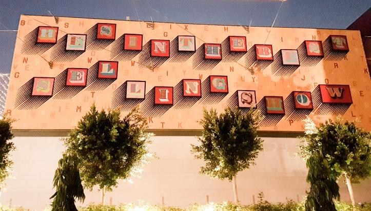 Ben Eine typograpy street art dubai