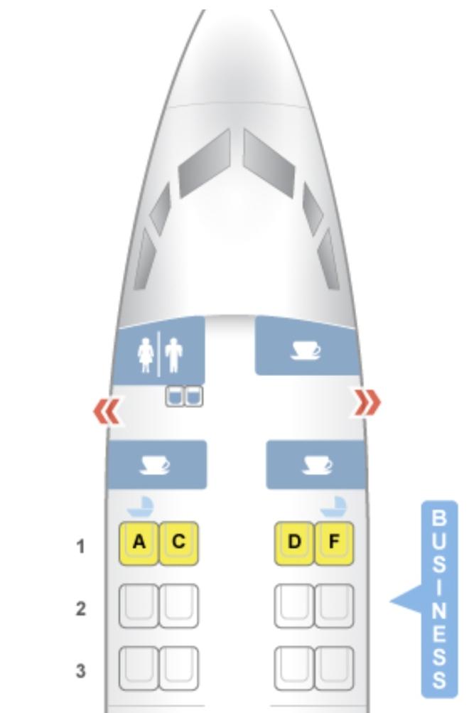A737 RAM BUSINESS CLASS SEAT MAP