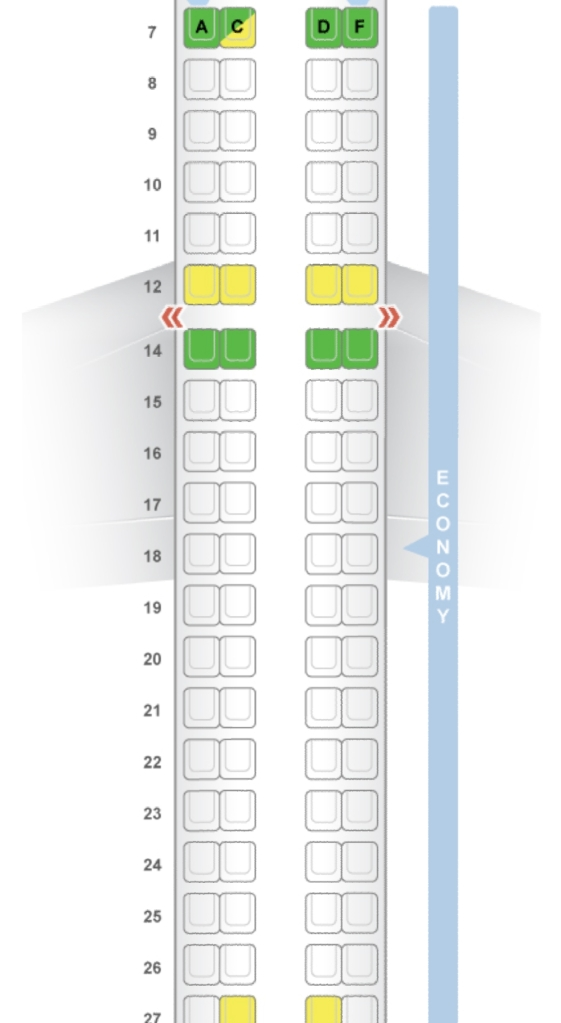 RAM Embraer 190 Seat map