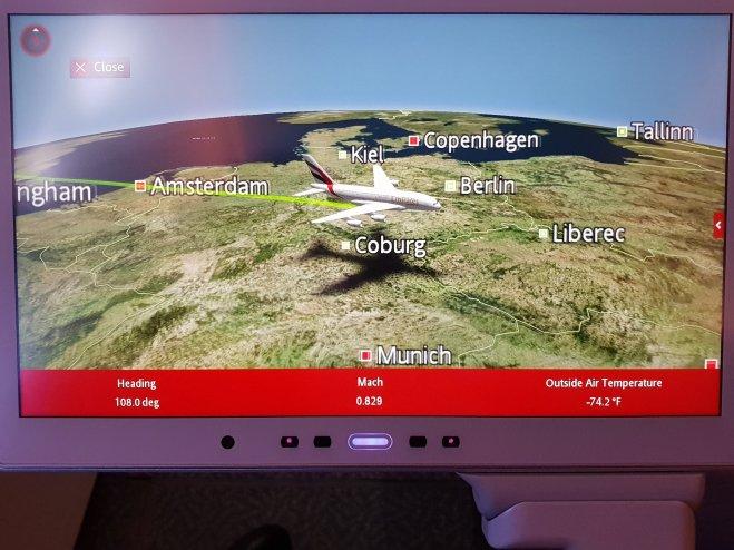 Emirates moving map