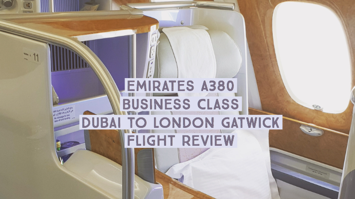 Emirates A380 Business Class Dubai to London Gatwick Flight Review