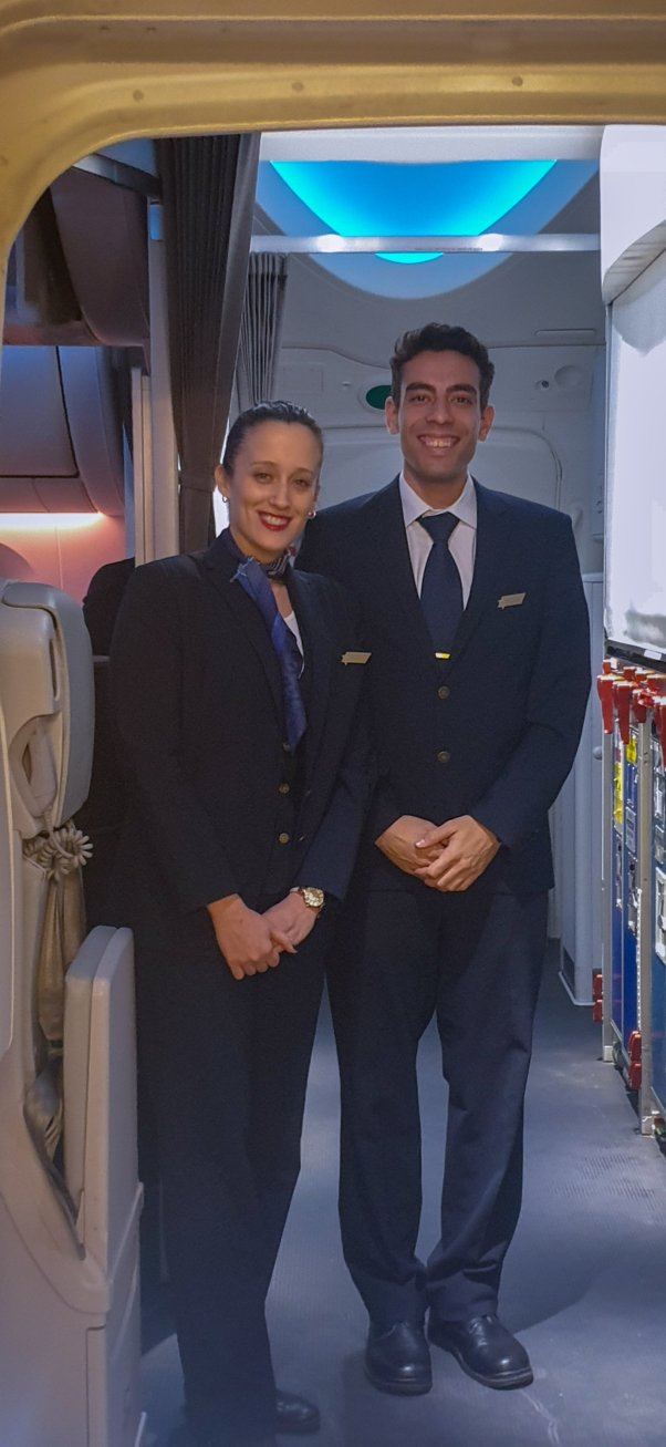 El AL crew on board the new boeing 787 dreamliner